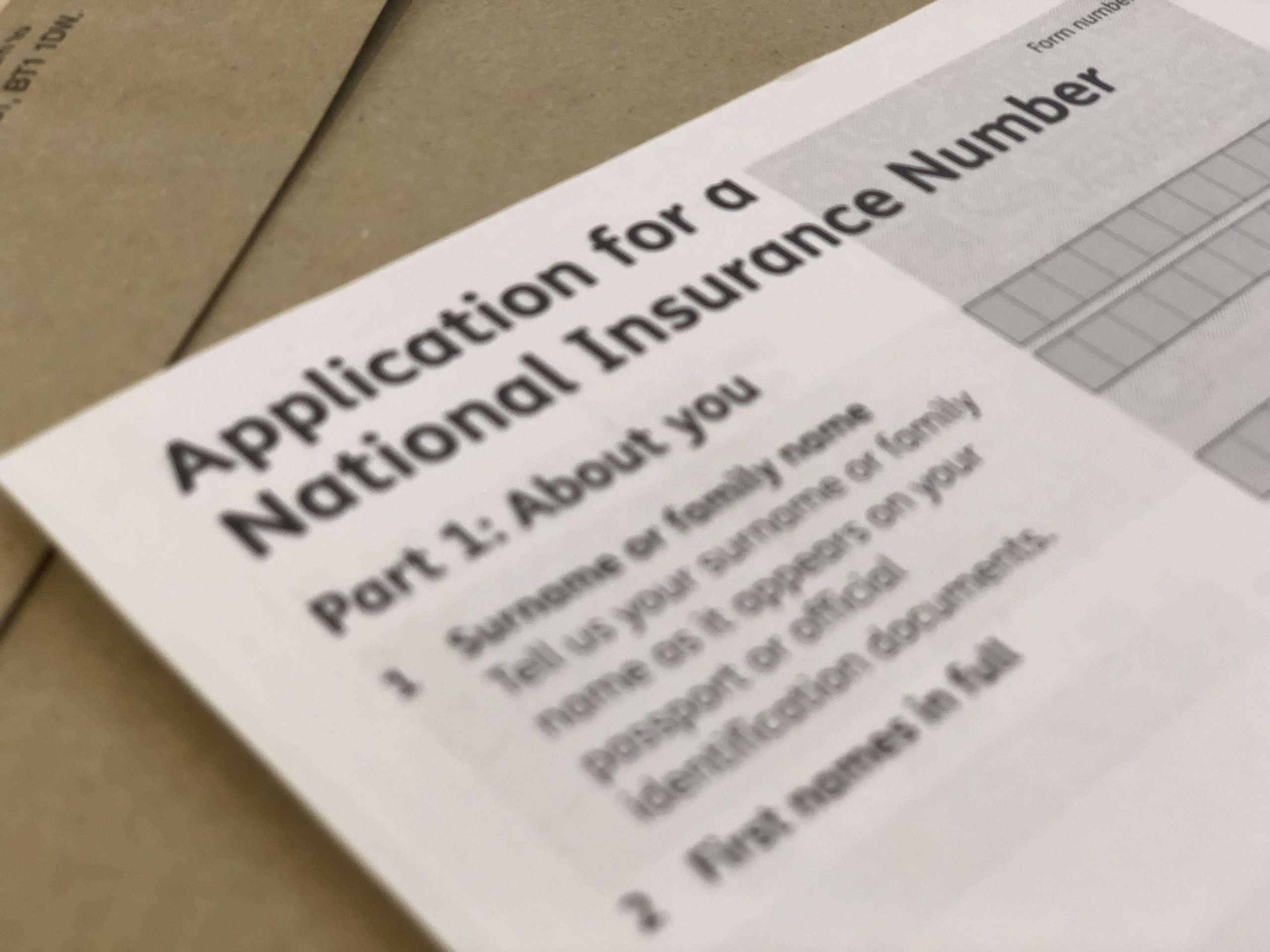 apply for national insurance number